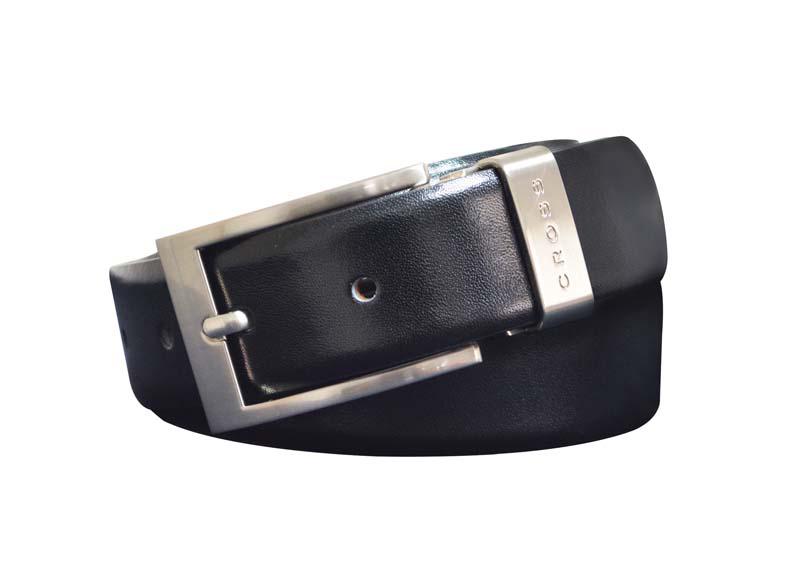 Ремень Cross Classic Century двухсторонний, кожа наппа гладкая, черный коричневый, 117х3 см (AC018155-XL)