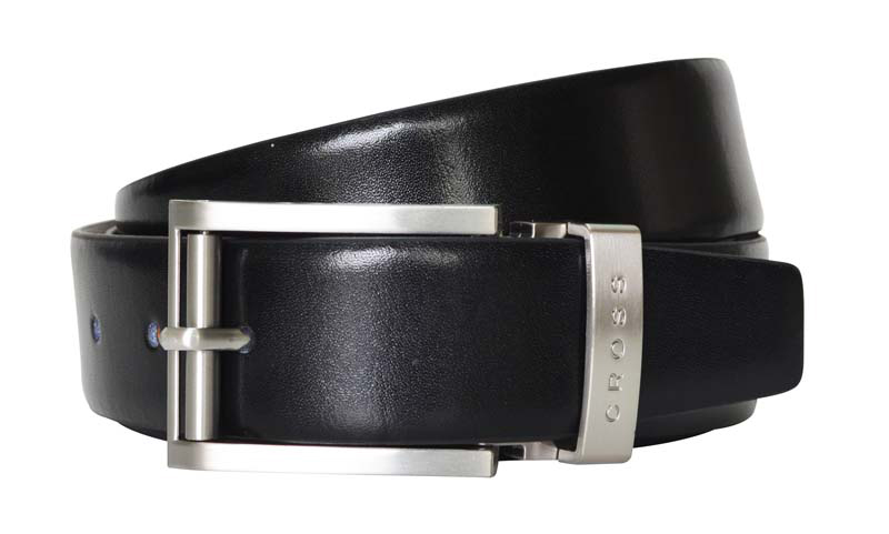 Ремень Cross Classic Century двухсторонний, кожа наппа гладкая, черный коричневый, 117х3,5 см (AC018193-XL)