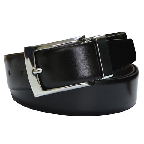 Ремень Cross Manresa, двухсторонний, кожа наппа гладкая, черный коричневый, 133,5х3,5 см (AC308413)