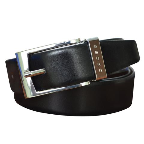 Ремень Cross Manresa, двухсторонний, кожа наппа гладкая,цвет черный коричневый, 140х3,5 см (AC308414)