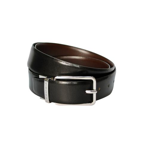 Ремень Cross Santiago, двухсторонний, кожа наппа гладкая, черный коричневый, 134х3,5 см (AC318494)