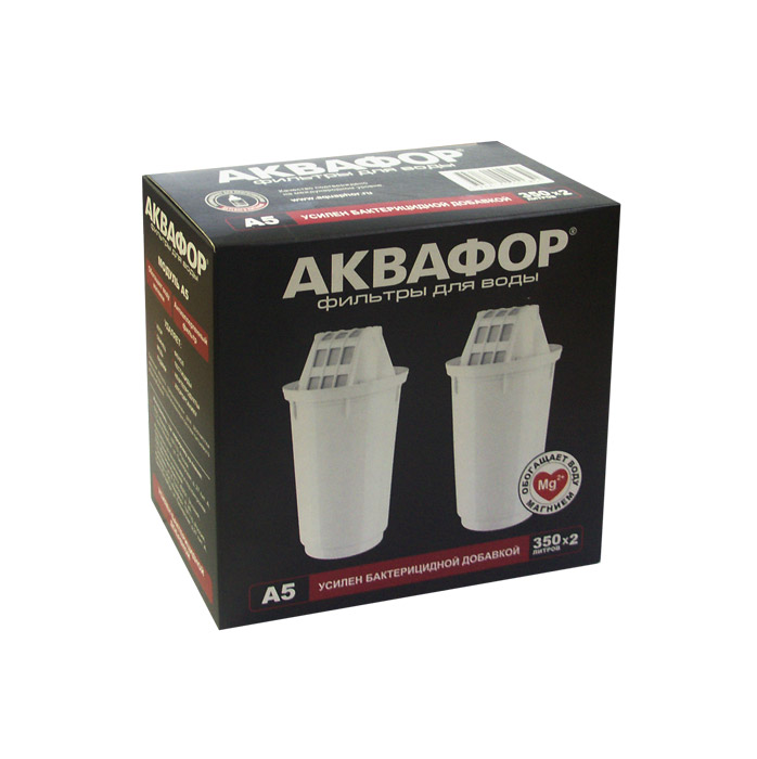 Сменная кассета АКВАФОР-А5 (2 шт. в упаковке) для фильтра с отверстием посадки 7см
