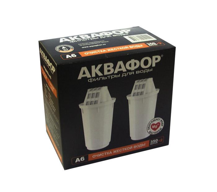 Сменная кассета АКВАФОР-А6 (2 шт. в упаковке) для фильтра с отверстием посадки 7см ( вместо В100-6)
