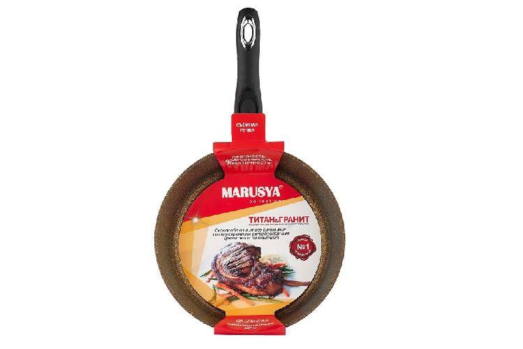 Сковорода Маруся Гранит 801-24 с индукционным дном, 24 см, цвет бронзовый
