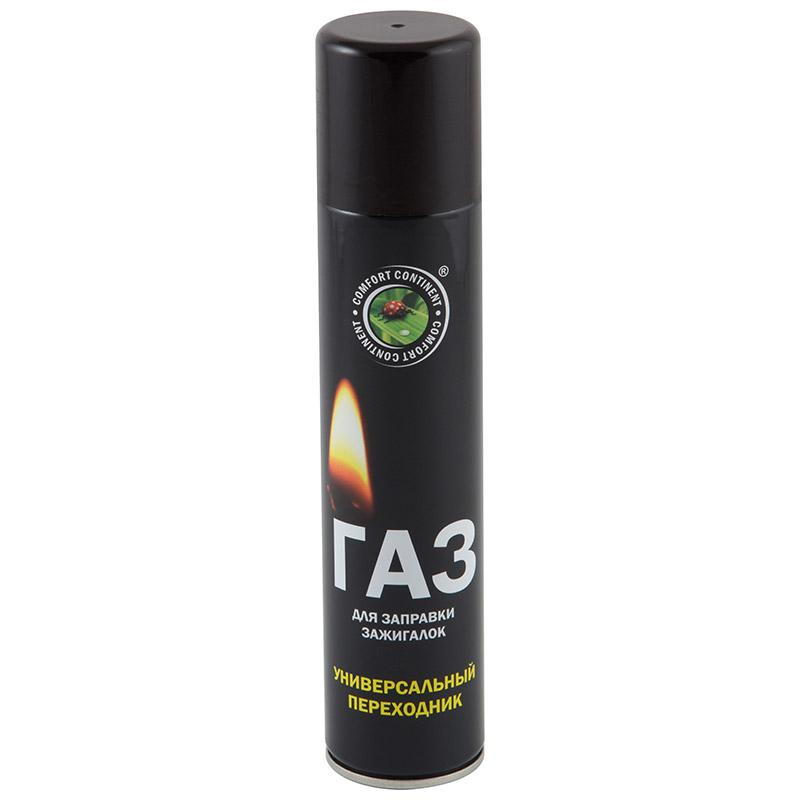 Газ для заправки зажигалок (continent comfort), 180 мл