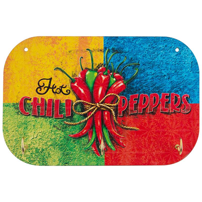 Держатель полотенец Ноt chili peppers Волшебная страна 3 крючка (006744)
