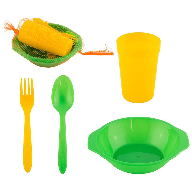 Набор посуды для пикника 4 персоны (16 предметов) (008155)