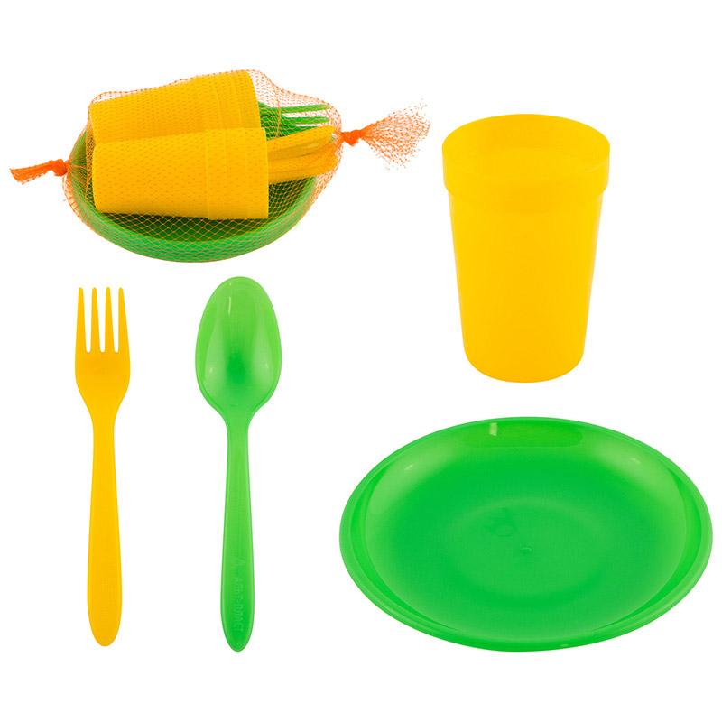 Набор посуды для пикника 6 персон (24 предмета) (008156)