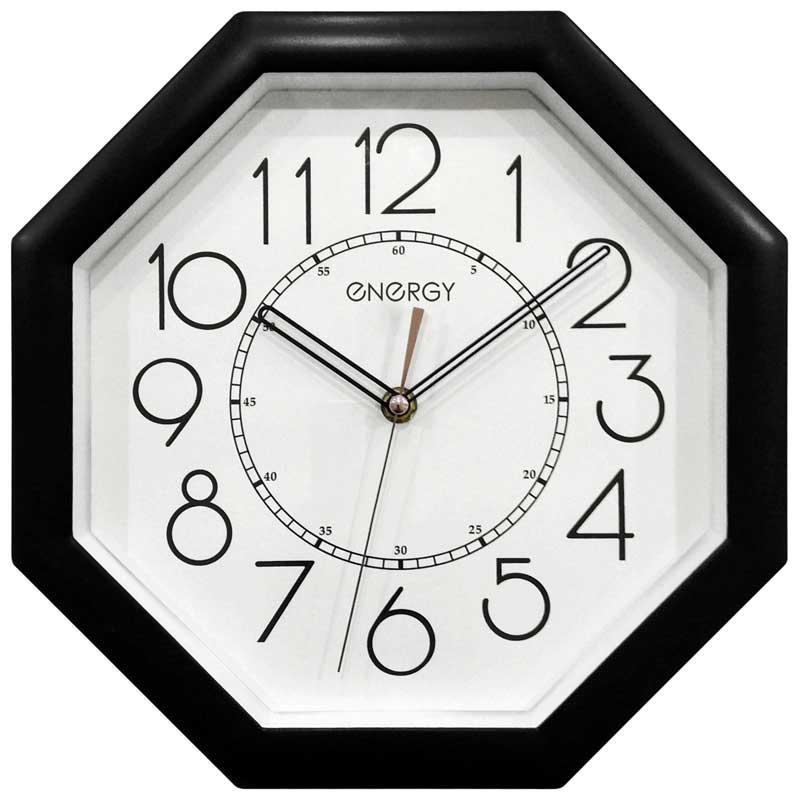 Часы настенные кварцевые ENERGY модель ЕС-125 восьмиугольные (009499)