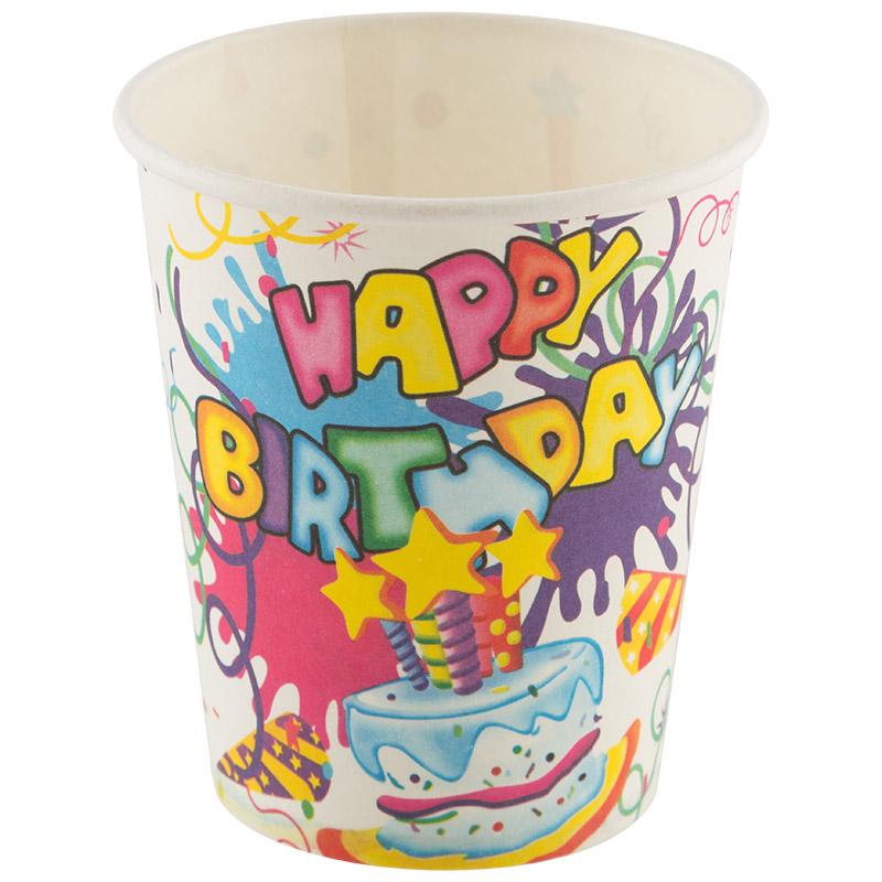 Набор бумажных стаканов Happy Birthday Волшебная страна 6 шт (007147)
