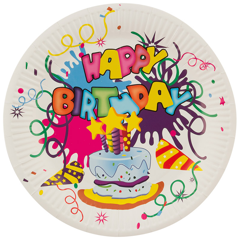 Набор бумажных тарелок Happy Birthday Волшебная страна 23 см, 6 шт (007149)