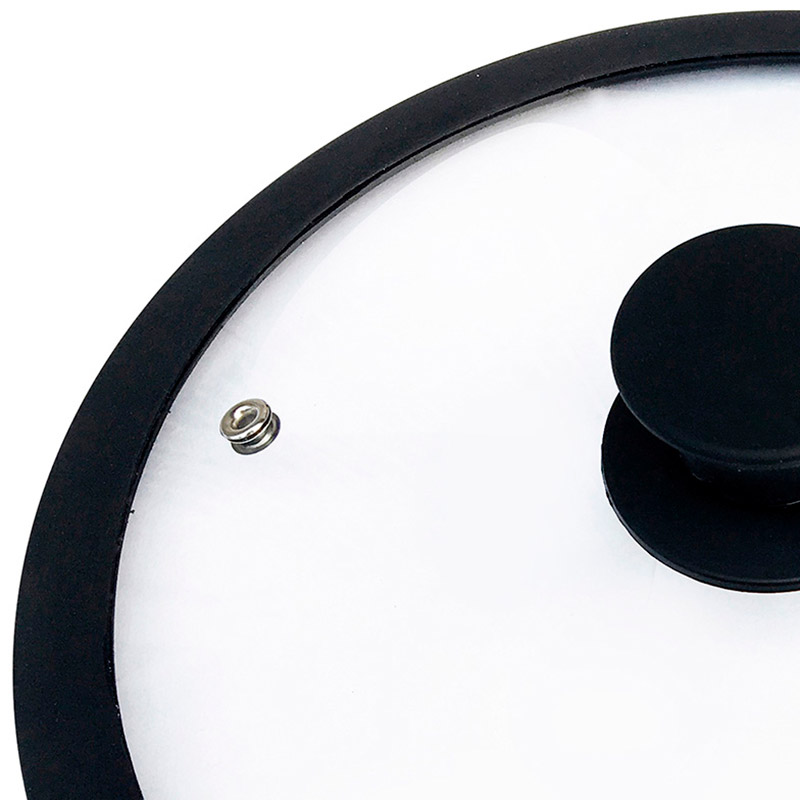 Крышка стеклянная с силиконовым ободком, серия CAPPELLO, 26 см диа, сил ручка, тм Mallony (003545)