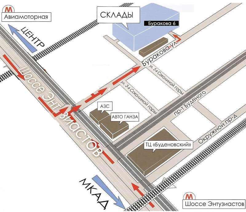 Схема проезда - Интернет
